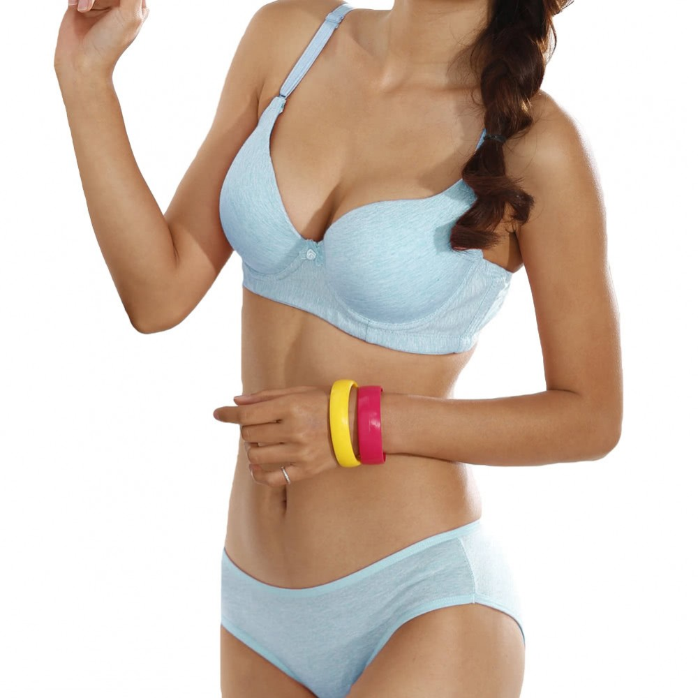 New Sexy Women Bra 3/4 Cup Thin Light Padded V-Neck Seamless Underwire Lingerie Underwear