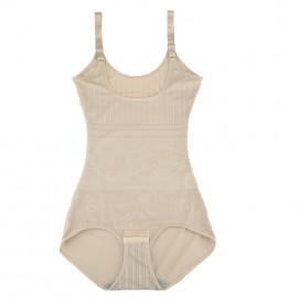 Fashion Women Floral Shapewear Adjustable Straps Waist Training Corsets Camisole Slimming Underwear Beige/Black